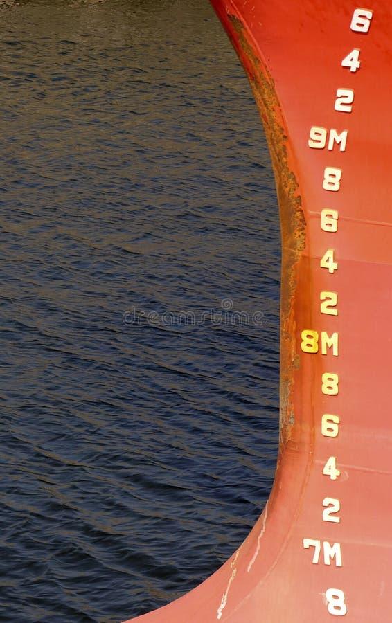 Depth Markings Stock Image