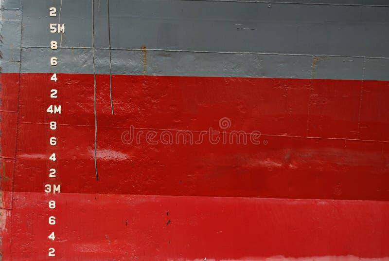 Water Depth Markings On Ship Hull Royalty Free Stock Photo