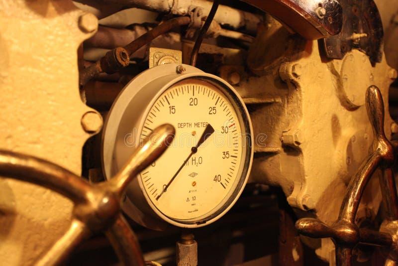 Download Depth meter submarine stock image. Image of machine, metering - 24002133