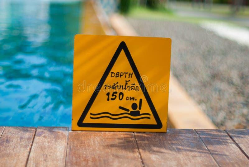 Depth warning stock images