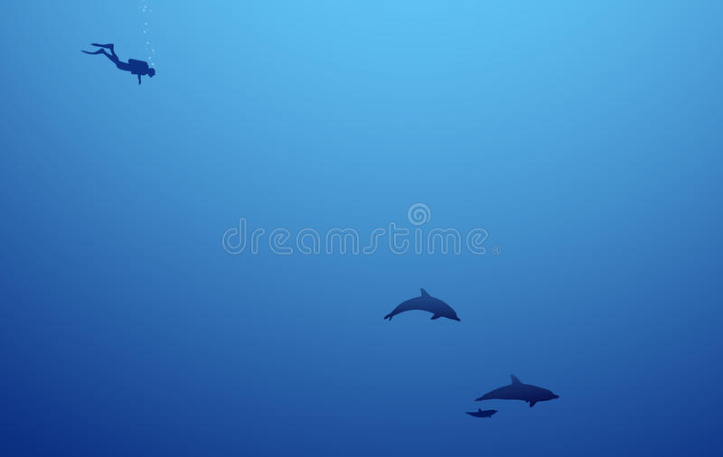 In depths of the sea stock photo
