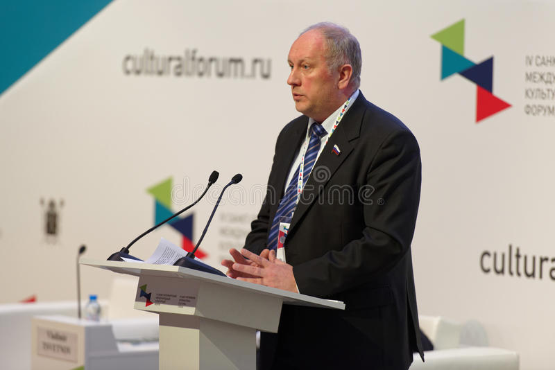 Deputy Chairman of the Federation Council Committee for science, education and culture Sergey Rybakov stock photos