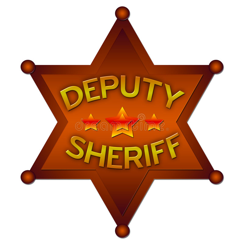 Download Deputy Sheriff Abstract Badge Royalty Free Stock Photo - Image: 3436635