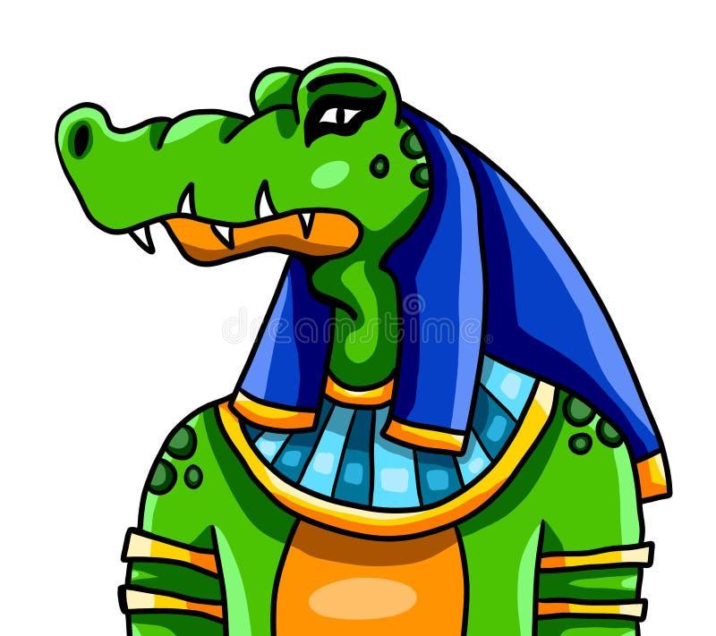 Der ägyptische Gott Sobek vektor abbildung
