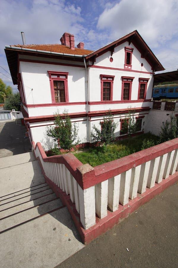 Der älteste rumänische Bahntrainstation stockfotos