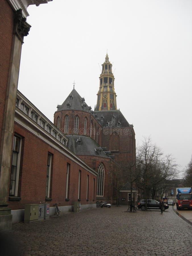 Der aa-kerk à Groningue, Pays-Bas image libre de droits