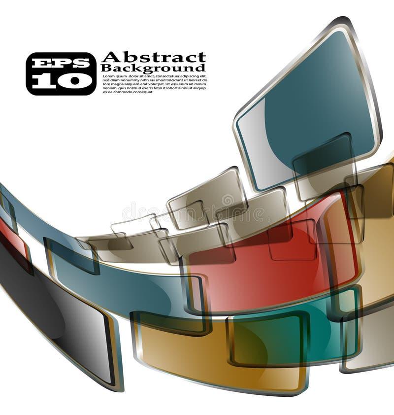Der abstrakte Farbenhintergrund vektor abbildung