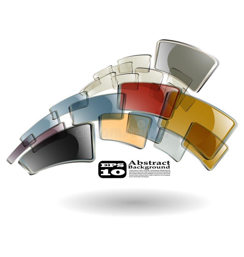 Der abstrakte Farbenhintergrund lizenzfreie abbildung