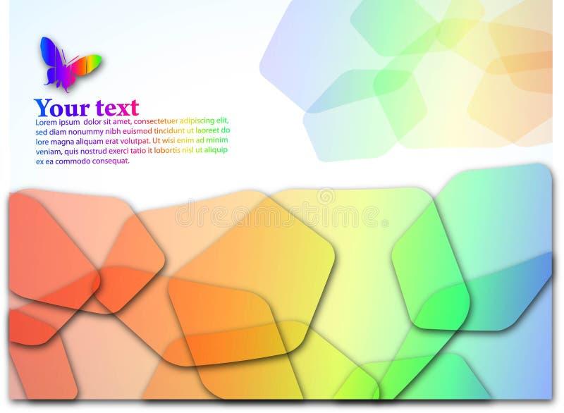 Der abstrakte Farbenhintergrund ENV 10 stock abbildung