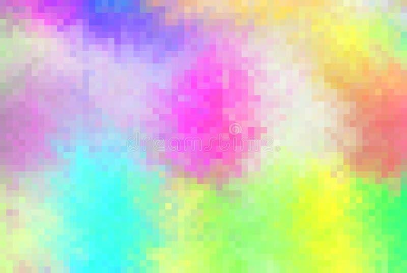 Der abstrakte gefärbte Regenbogen Mosaik-quadrierte Muster vektor abbildung