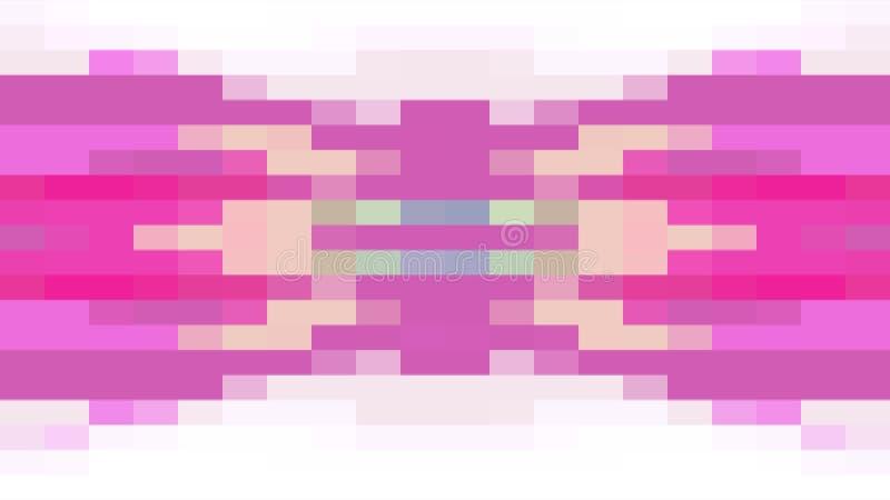 Der abstrakte Pixelblock, der Universalbewegungsdynamik der nahtlosen Qualität der Schleifenhintergrundanimation 45 neuen bewegt, lizenzfreie abbildung