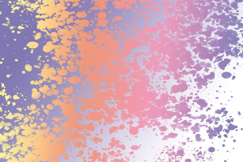 Der abstrakte Tapetenhintergrund, der von der Farbe gemacht wird, spritzt lizenzfreie abbildung