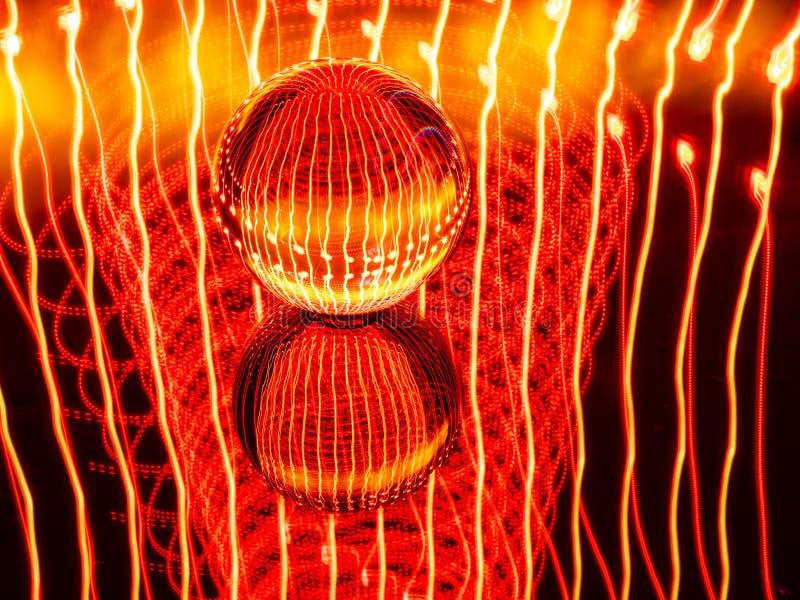 Der abstrakte Wirbelsturm und die Sternschnuppen stellen die Gefahr für den roten Planeten dar lizenzfreie stockfotografie