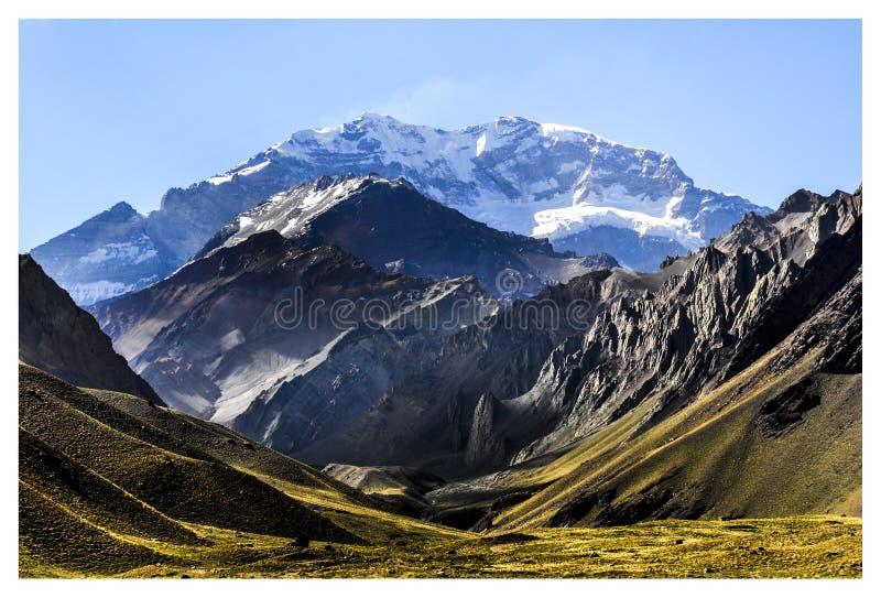 Der Aconcagua-Hügel stockbilder