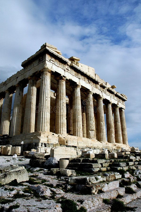 An der Akropolise in Athen lizenzfreie stockfotografie