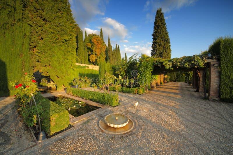 Der alhambra-Garten, Granada, Spanien stockfoto