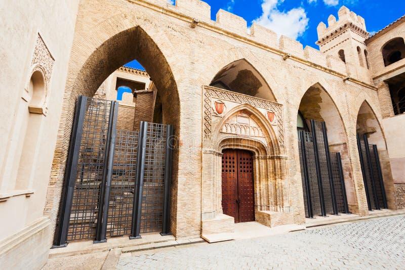 Der Aljaferia Palast in Zaragoza stockfoto