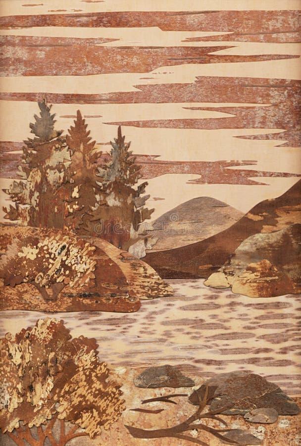 Der altay-Fluss, Anwendung lizenzfreie abbildung