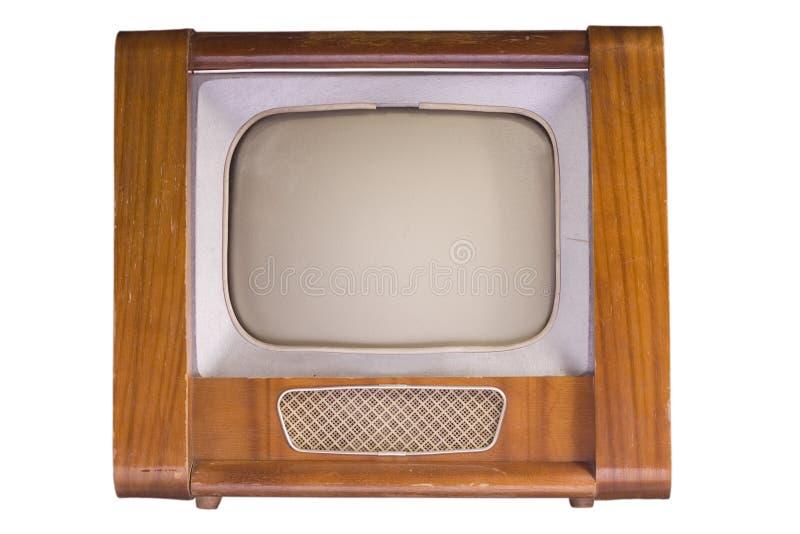 Der alte Fernsehapparat stockfoto