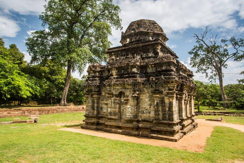 Der alte hindische Tempel gewidmet Shiva Polonnaruwa, Sri Lanka lizenzfreies stockfoto