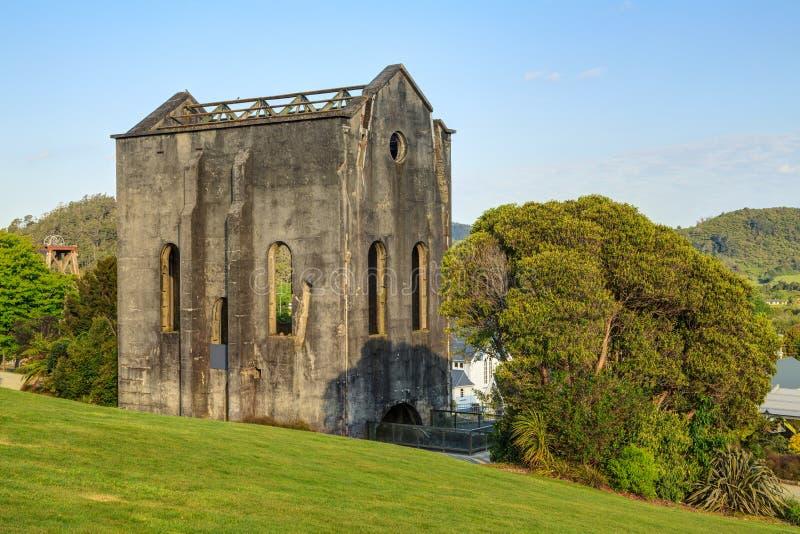 Der alte kornische Pumphouse in Waihi, Neuseeland stockfoto