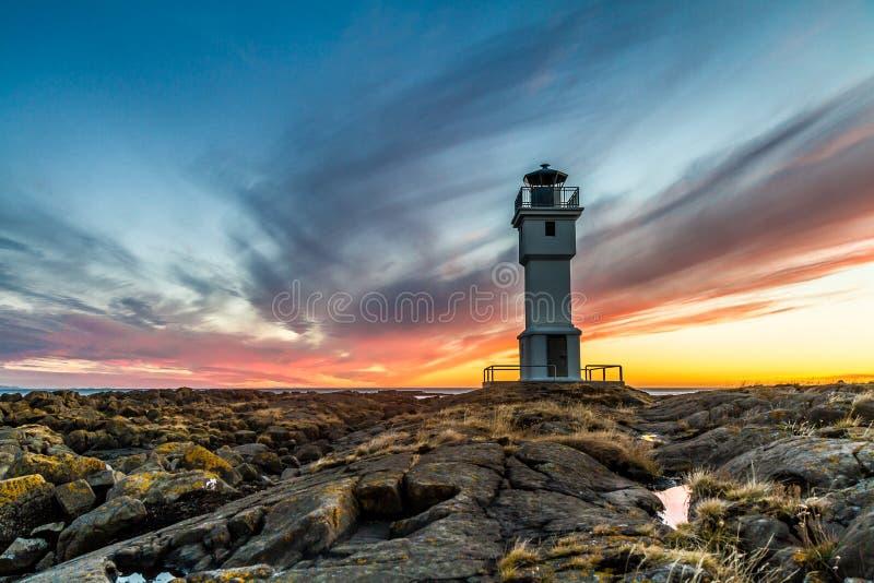 Der alte Leuchtturm stockfotografie