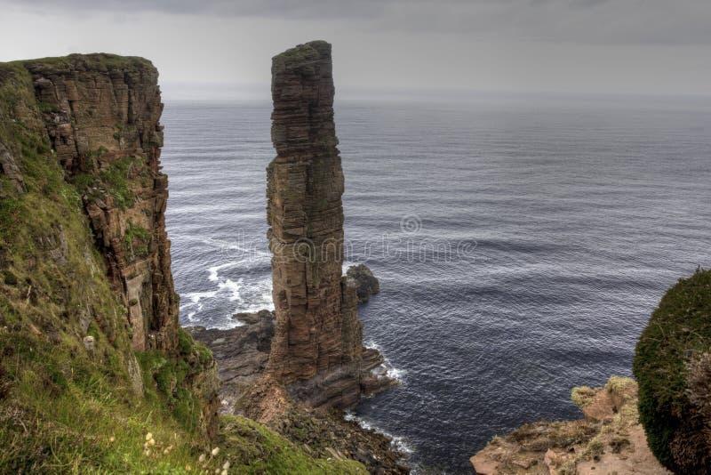 Der alte Mann von Hoy, Seestapel in Orkney, Schottland lizenzfreies stockfoto