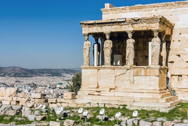 Der alte Tempel von Athene, lizenzfreies stockbild