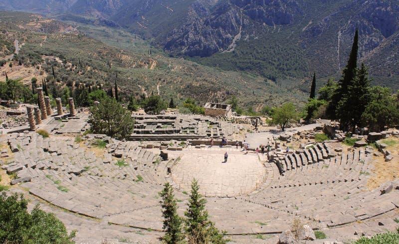 Der Amphitheatre in Delphi stockfotografie