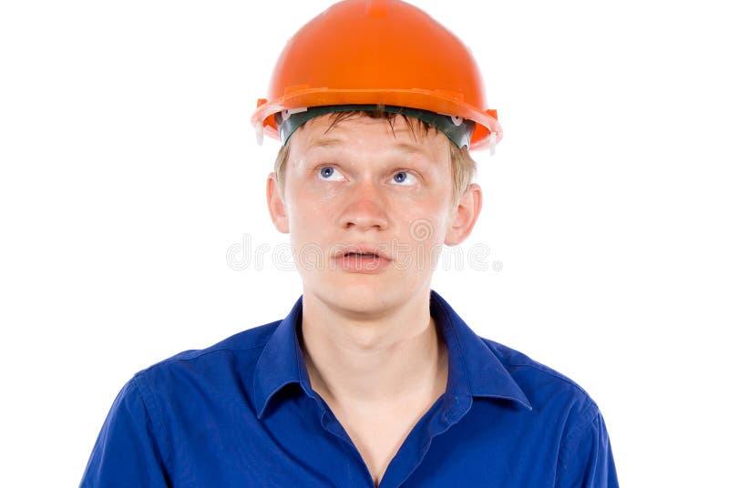 Der Angestellte ermüdet stockfoto