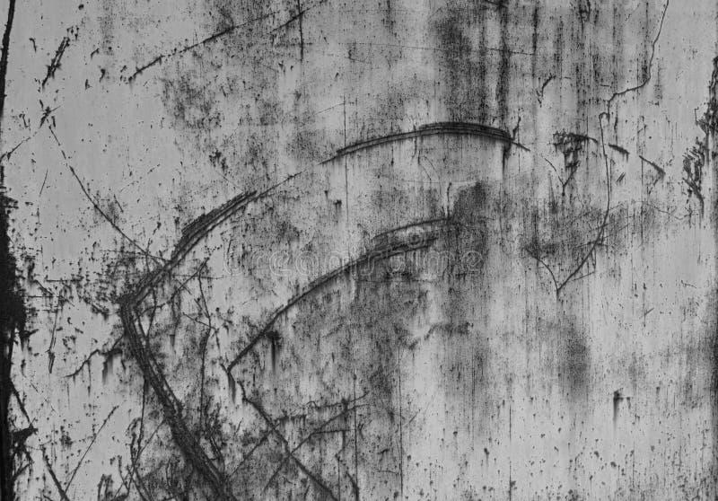 Der antike rostige Rostgürtel mit Textur Alte Eisenwand mit blauer Farbe und Rost Metallstruktur mit natürlichen Mängeln stockfotografie