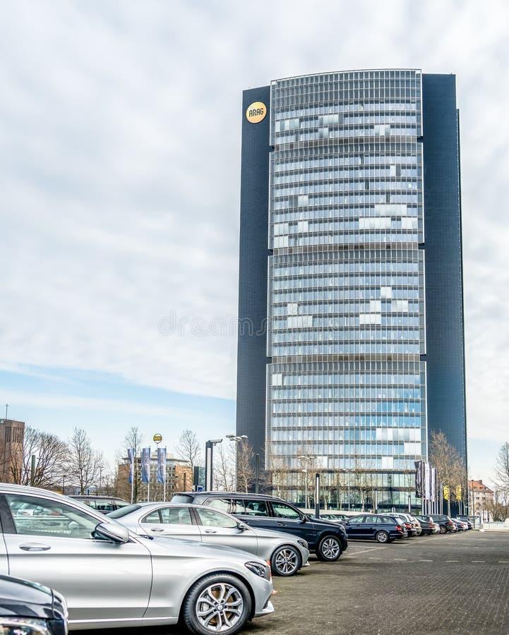 Der Arag-Hauptsitz stockfotografie