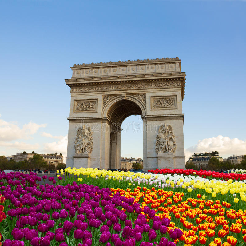 Der Arc de Triomphe, Paris, Frankreich lizenzfreies stockfoto