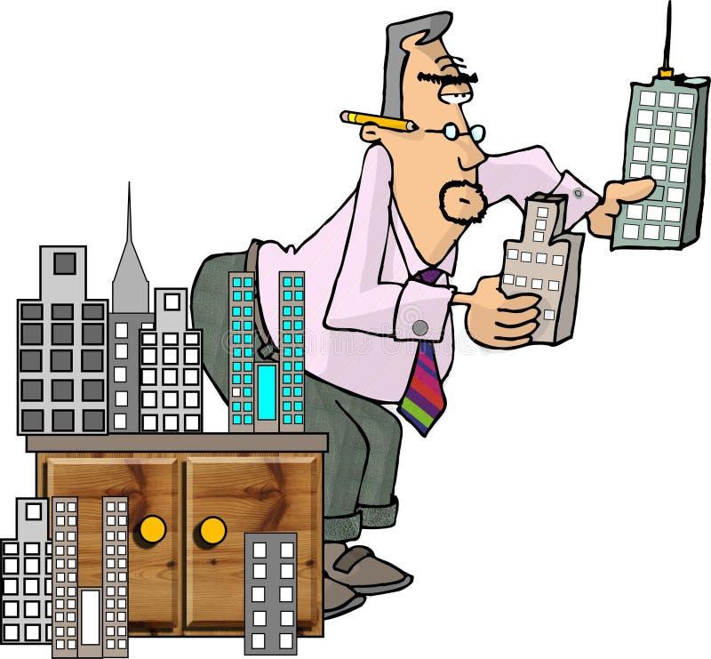 Download Der Architekt stock abbildung. Illustration von lustig, komisch - 29911