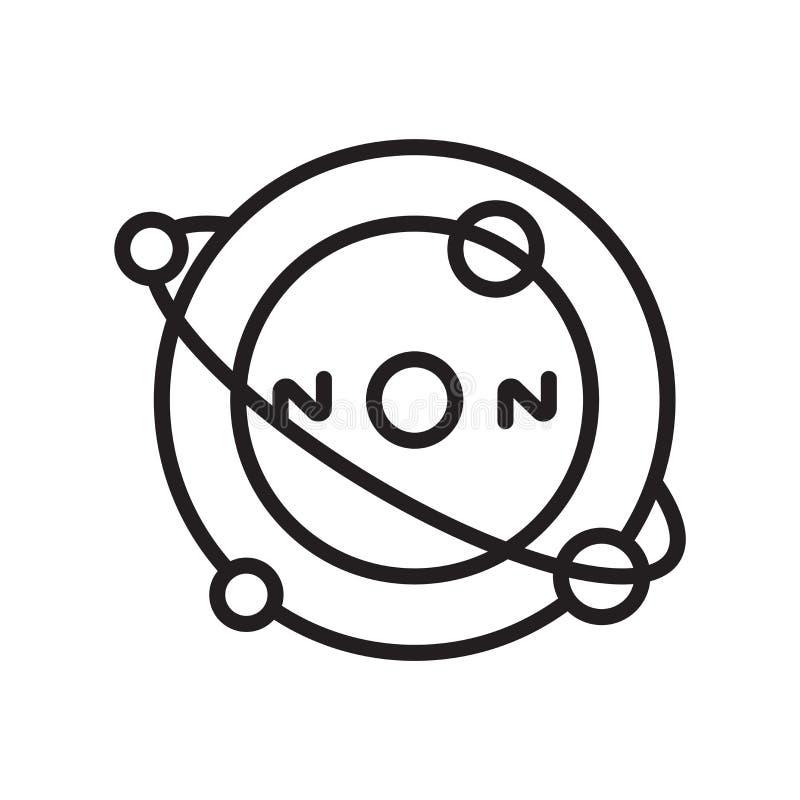 Der Atomikonenvektor, der auf weißem Hintergrund lokalisiert wird, Atome unterzeichnen, Lin lizenzfreie abbildung