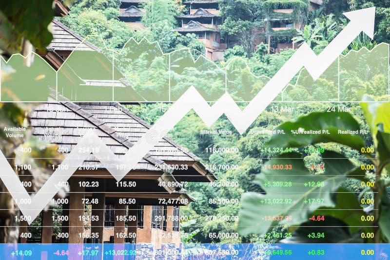 Der auf Lager erfolgreiche Investition Finanzindexshow auf Reiseveranstalter und Touristengewerbe lizenzfreies stockbild