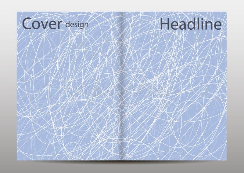 Der auf Lager minimales Abdeckungsdesign Illustration Geometrische Zeilen Gesetzter futuristischer Poster Schablonen für Plakate, lizenzfreie abbildung