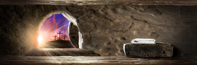 Der Auferstehungstag lizenzfreies stockbild