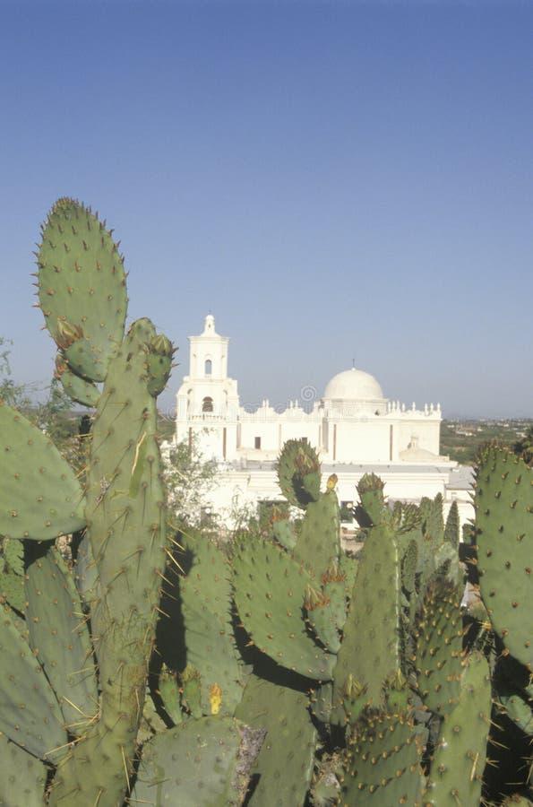 Der Auftrag San Xavier Del Bac wurde zwischen 1783 und 1897 in Tucson Arizona aufgerichtet lizenzfreie stockbilder