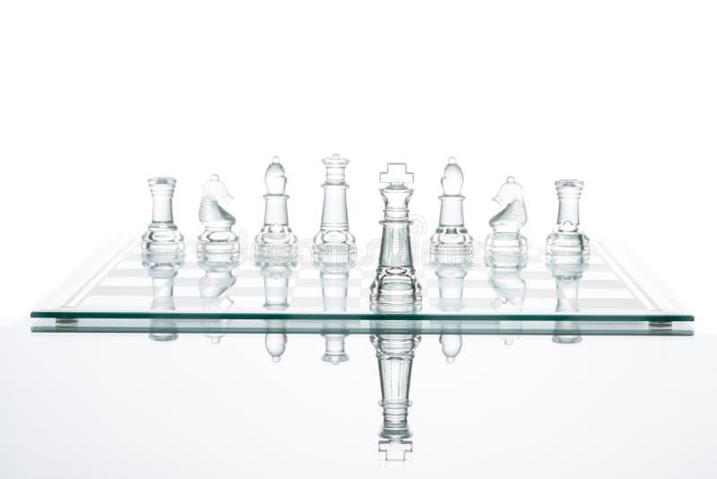 Der auserlesenen Glasschach Führungs-Leistung des Geschäfts transparent lizenzfreies stockfoto