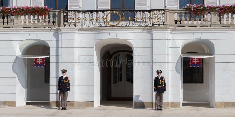 Der Ausleseschutz der Ehre vor dem Präsidentenpalast lizenzfreie stockfotos