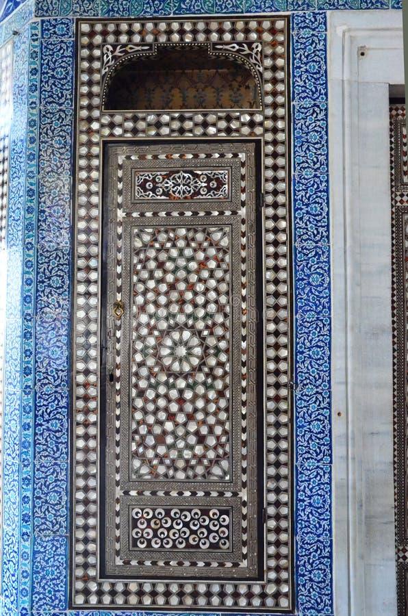 Der Bagdad-Pavilloninnenraum in Topkapi-Palast in Istanbul, die Türkei stockbild
