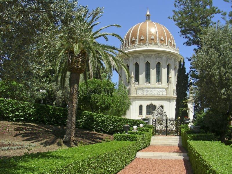 Der Baha'i Tempel stockbild