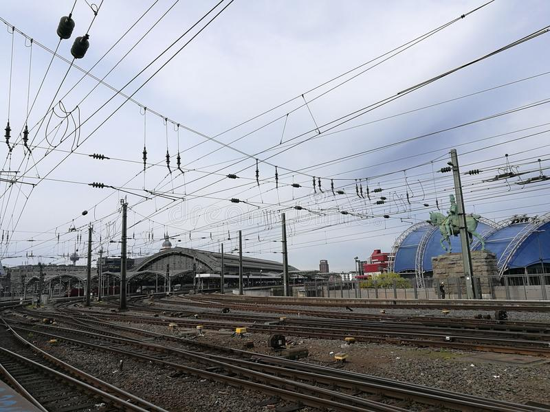 Der Bahnhof in Colognes ` Stadt stockfotografie