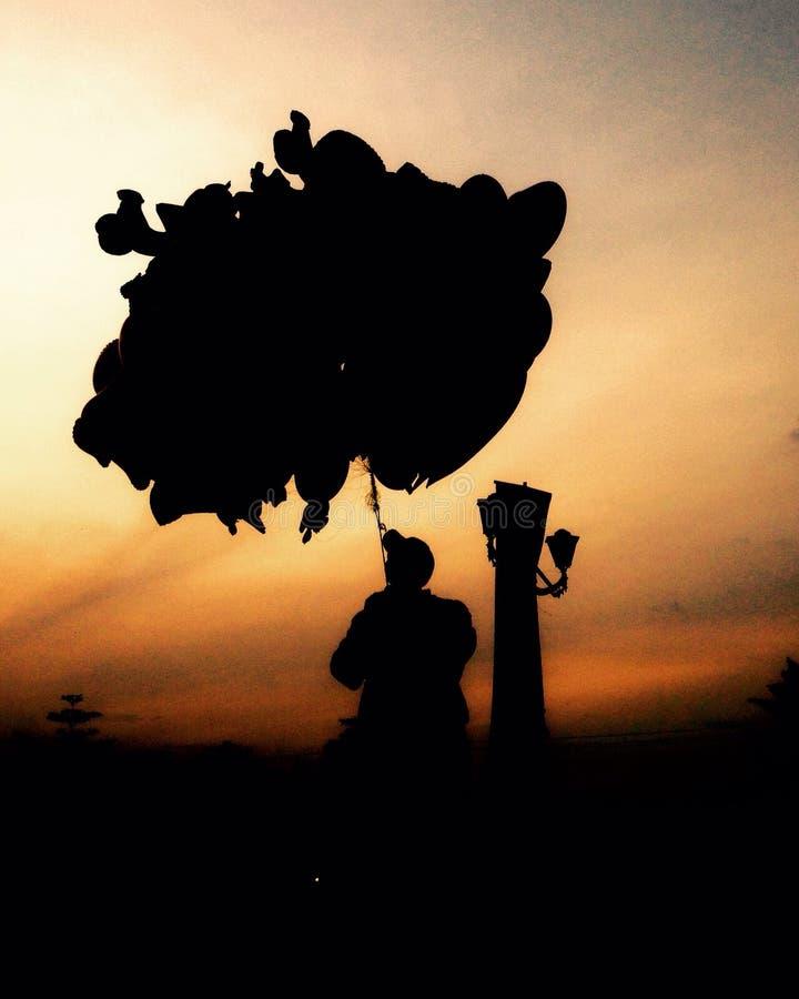 Der Ballonverkäufer lizenzfreies stockfoto