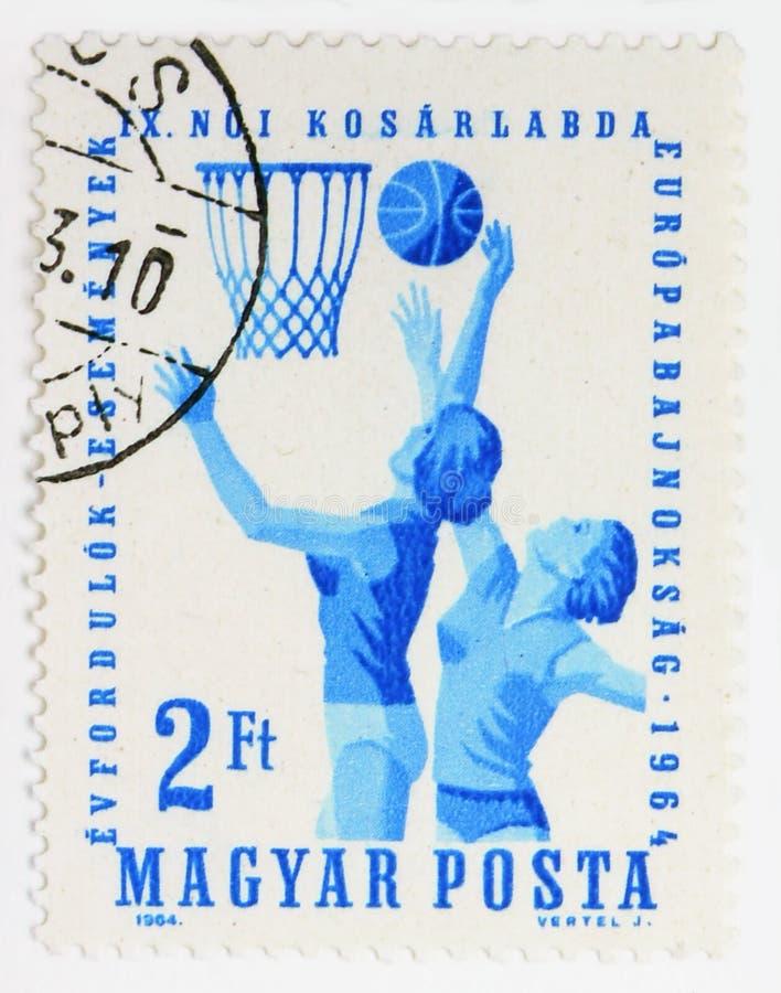 der Basketball-Meisterschaft des 9. Europäerinnens, Sport serie, circa 1964 stockbilder