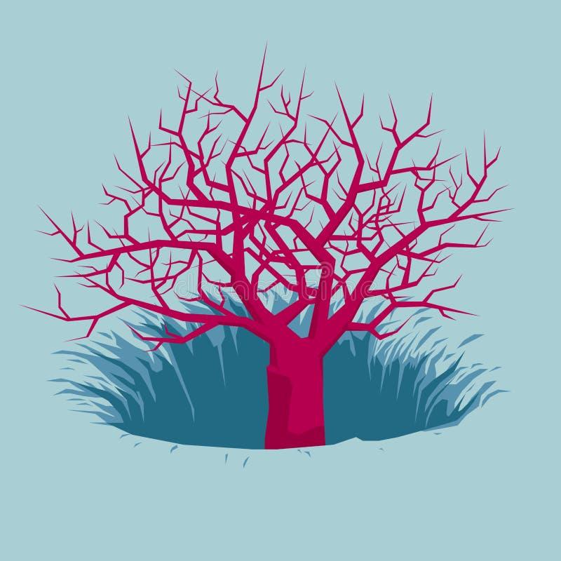 Der Baum ist in einer Falle stock abbildung