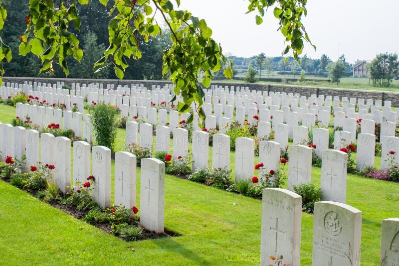 Der Bedford House Cemetery-Erste Weltkrieg Ypres Flander Belgien stockfoto