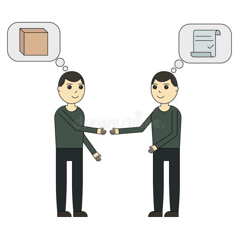 Der Befreier setzt den Vertrag mit dem Kunden vektor abbildung