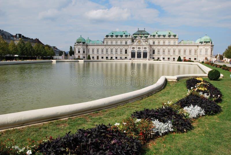 Der belvedere-Palast von Wien stockfotografie